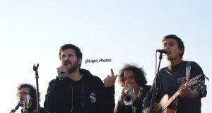Taburete en concierto en Vigo